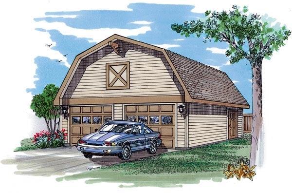 Garage Plan 55526 Elevation