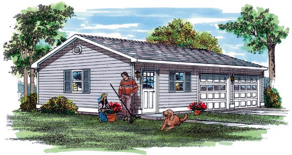 Traditional Garage Plan 55528 Elevation