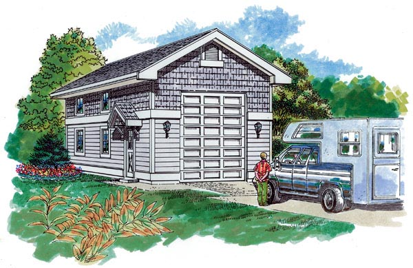 Traditional Garage Plan 55535 Elevation