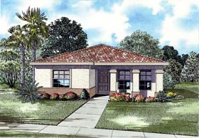 House Plan 55713 Elevation