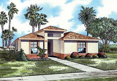 House Plan 55716 Elevation