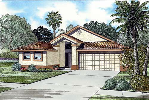 House Plan 55718 Elevation