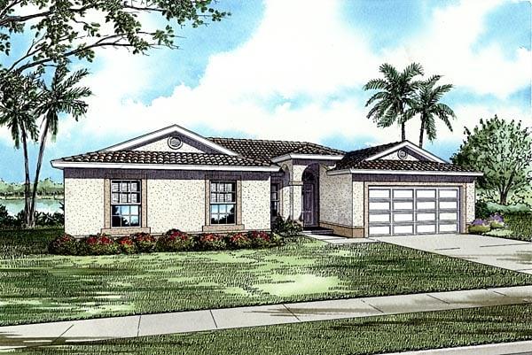 House Plan 55719 Elevation