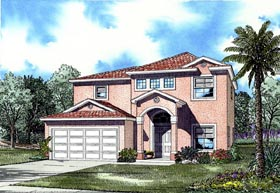 Florida House Plan 55722 Elevation