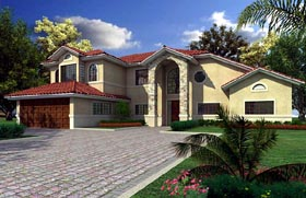 House Plan 55726 Elevation
