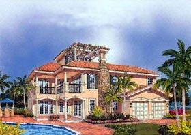 Mediterranean House Plan 55727 Elevation