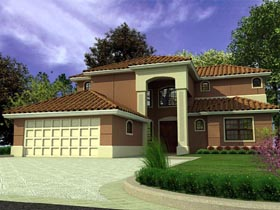 Florida House Plan 55729 Elevation