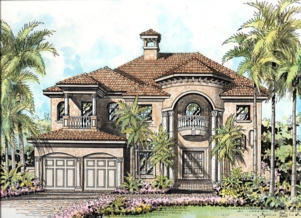 Mediterranean House Plan 55745 Elevation