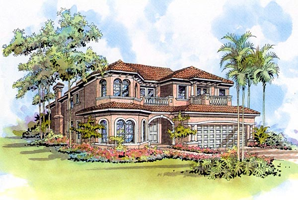 Florida House Plan 55748 Elevation