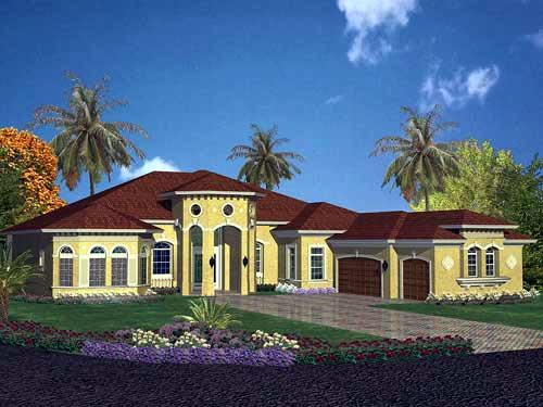 Mediterranean House Plan 55751 Elevation