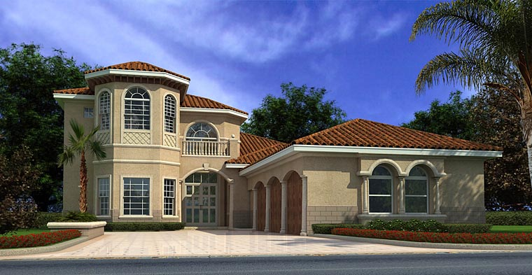 Mediterranean House Plan 55752 Elevation