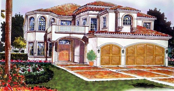 Mediterranean House Plan 55757 Elevation