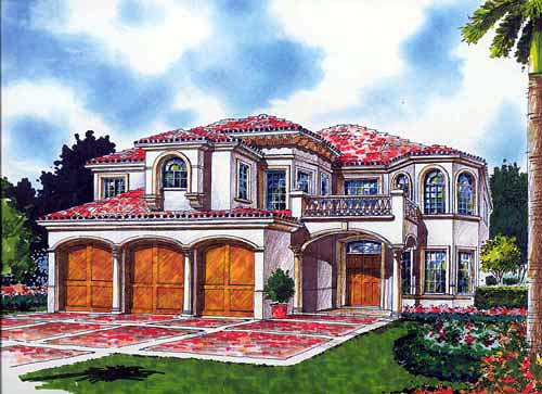 Mediterranean House Plan 55759 Elevation