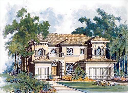 Mediterranean House Plan 55761 Elevation