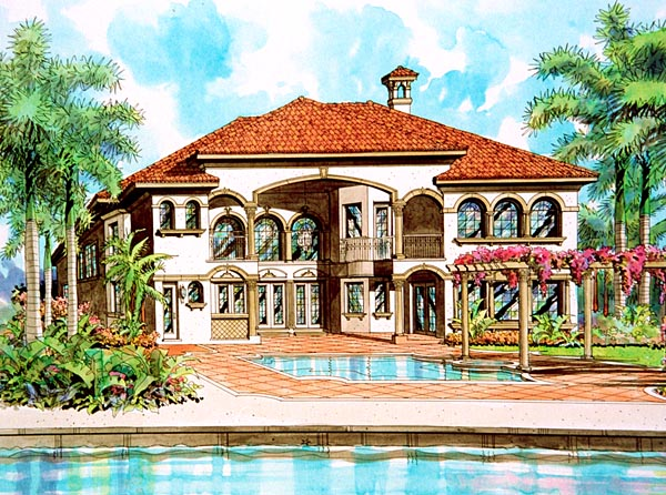 Mediterranean House Plan 55763 Elevation