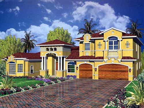 Mediterranean House Plan 55766 Elevation