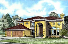 Mediterranean House Plan 55773 Elevation
