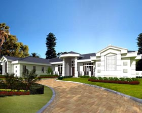 Contemporary House Plan 55776 Elevation
