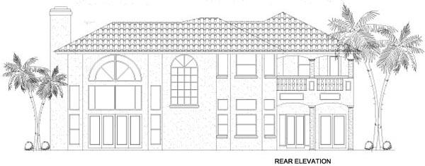Florida House Plan 55777 Rear Elevation