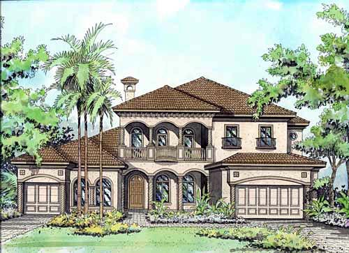 Mediterranean House Plan 55778 Elevation