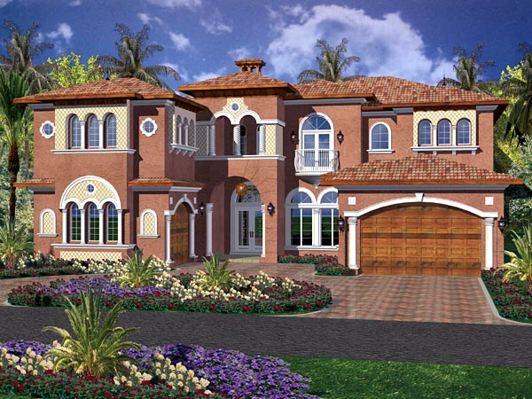 Mediterranean House Plan 55781 Elevation
