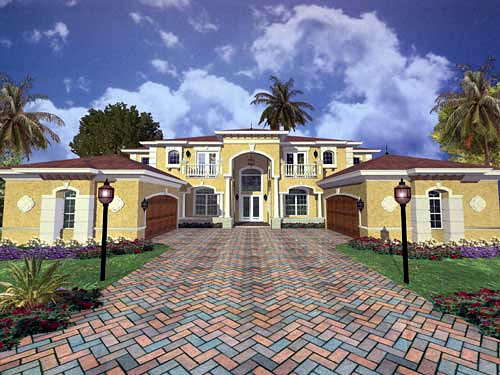 Mediterranean House Plan 55789 Elevation