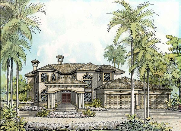 Florida House Plan 55790 Elevation