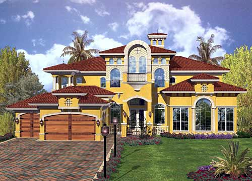 Mediterranean House Plan 55792 Elevation