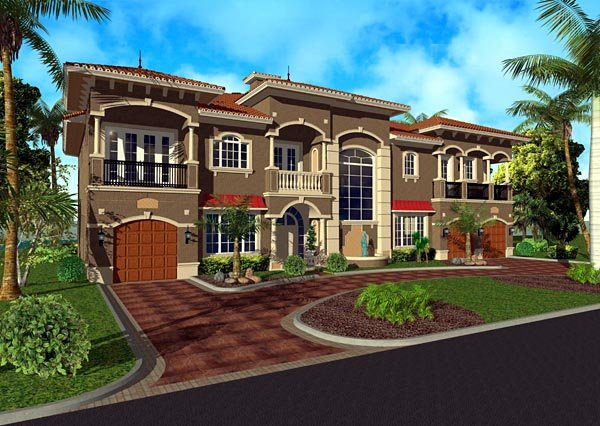 Florida Italian House Plan 55793 Elevation