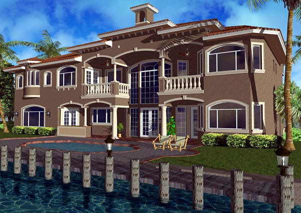 Florida Italian House Plan 55793 Rear Elevation