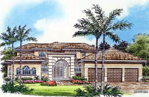 Mediterranean House Plan 55794 Elevation