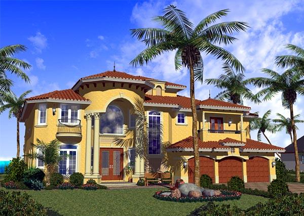 Mediterranean House Plan 55795 Elevation