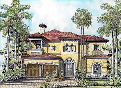 House Plan 55799 Elevation