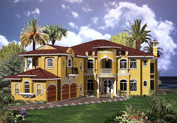 Mediterranean House Plan 55803 Elevation