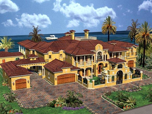 Mediterranean House Plan 55805 Elevation