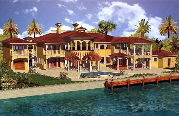 Mediterranean House Plan 55805 Rear Elevation