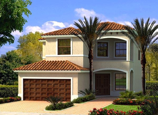 Florida House Plan 55820 Elevation