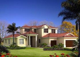 House Plan 55822 Elevation