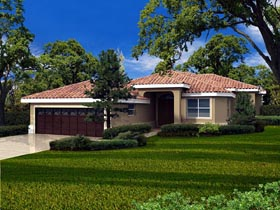 House Plan 55827 Elevation