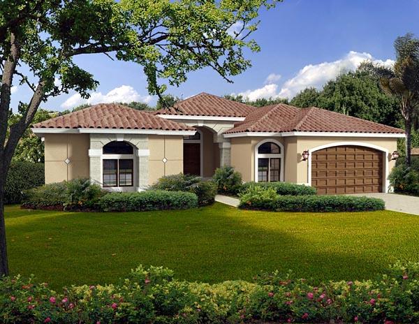 House Plan 55828 Elevation