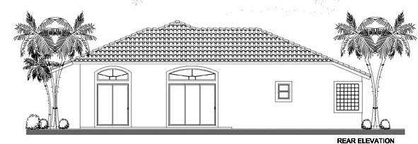 House Plan 55828 Rear Elevation