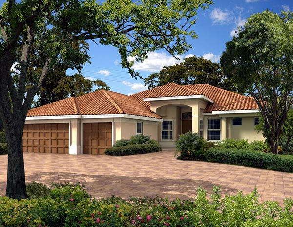 Florida House Plan 55829 Elevation