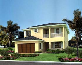 Florida House Plan 55832 Elevation