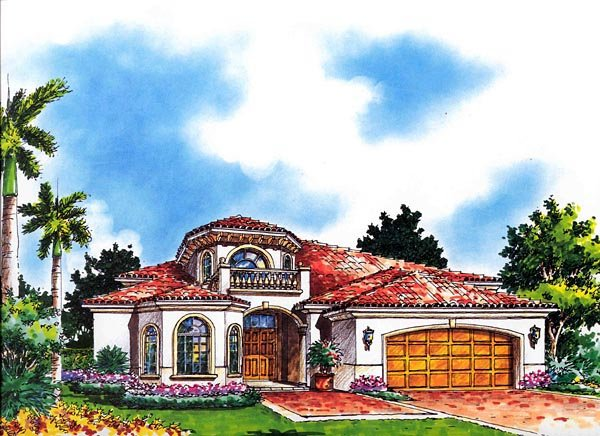 House Plan 55834 Elevation