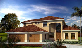 House Plan 55835 Elevation