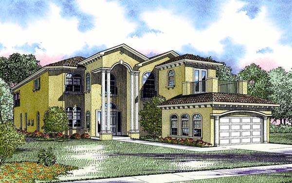 Florida House Plan 55845 Elevation