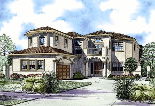 Mediterranean House Plan 55852 Elevation