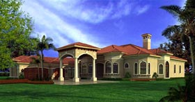 Mediterranean House Plan 55853 Elevation