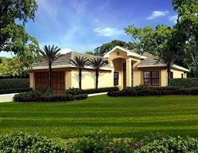 Florida House Plan 55866 Elevation