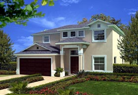 Florida House Plan 55867 Elevation